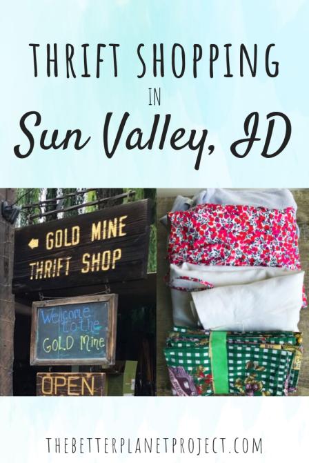 thrift shopping in sun valley
